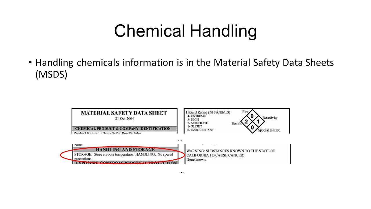 laboratory procedures chemical management emergency