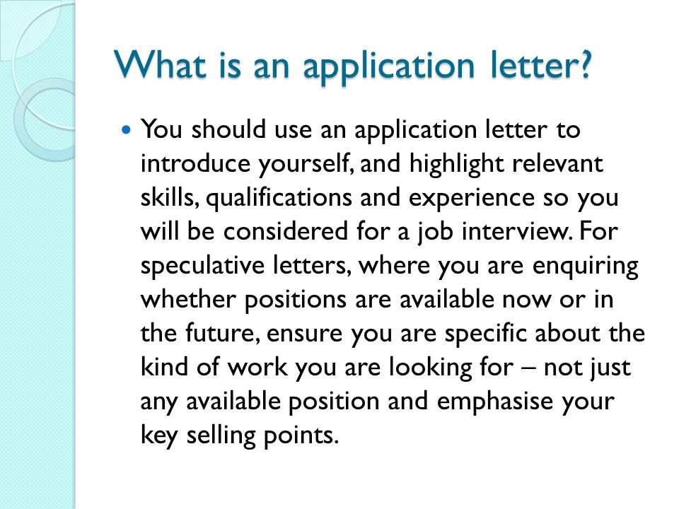 Application Letters. - ppt video online download