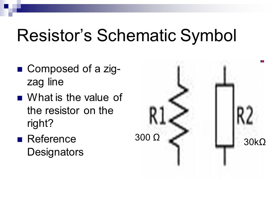 schematic symbol for a resistor 28 images