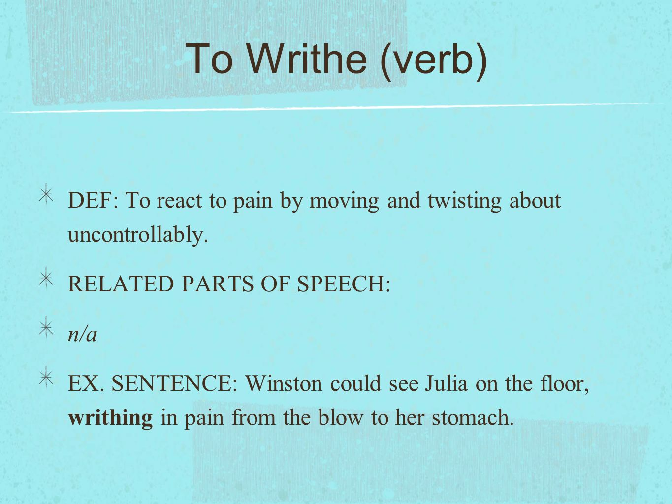 Definitions parts of speech and example sentences ppt for Sentence of floor