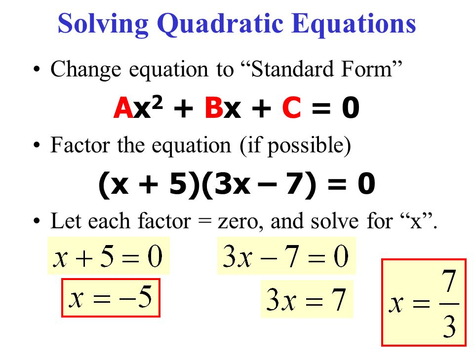 13.1 Introduction to Quadratic Equations - ppt video online download