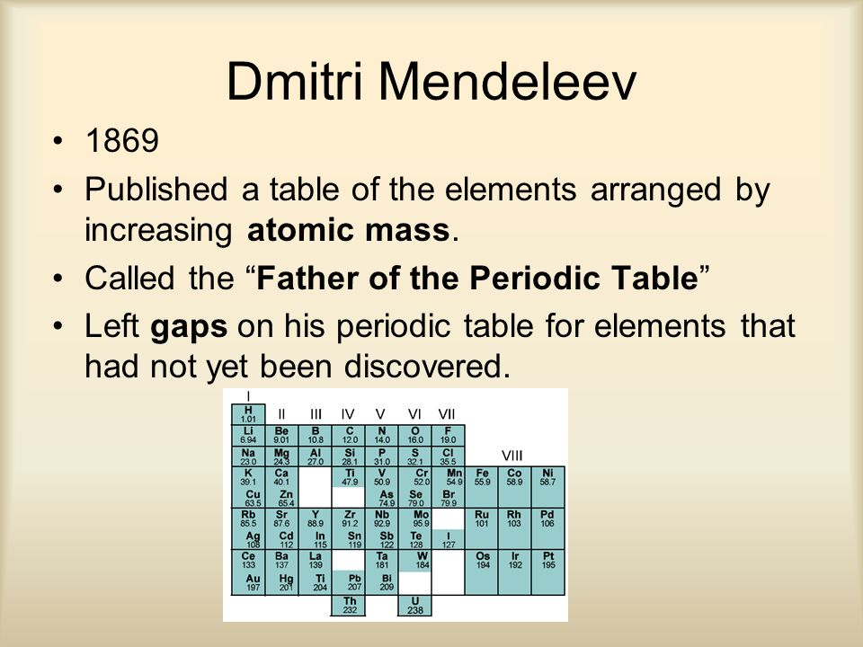Periodic table periodic table arranged increasing atomic number the periodic table an introduction ppt video online download periodic table periodic table arranged increasing atomic number history urtaz Images