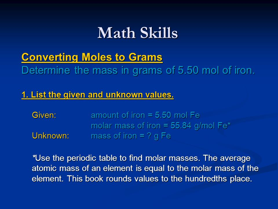 how to find the molar mass of an unknown element