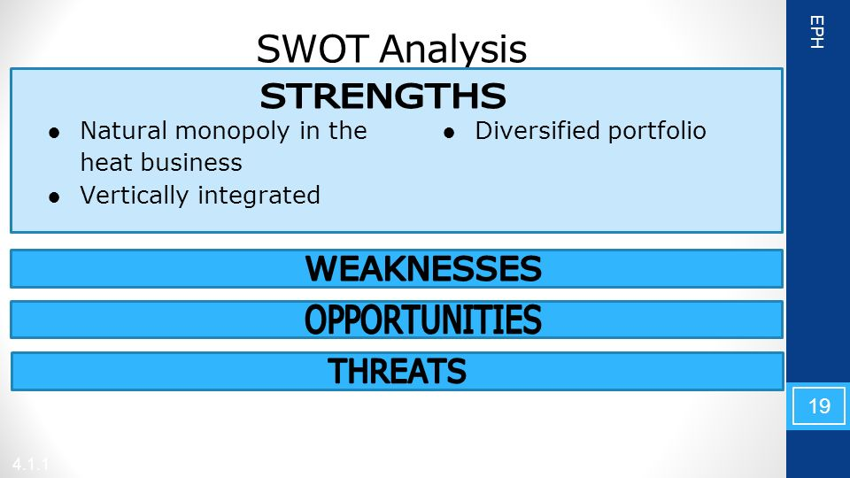 a swot analysis of the energy sector What is a swot analysis it is a way of evaluating the strengths, weaknesses, opportunities, and threats that affect something see wikiwealth's swot tutorial for help  remember, vote up the most important com.