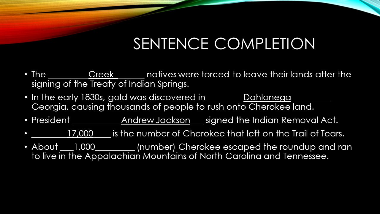 A look at the removal of the cherokee from their land in the 1830s