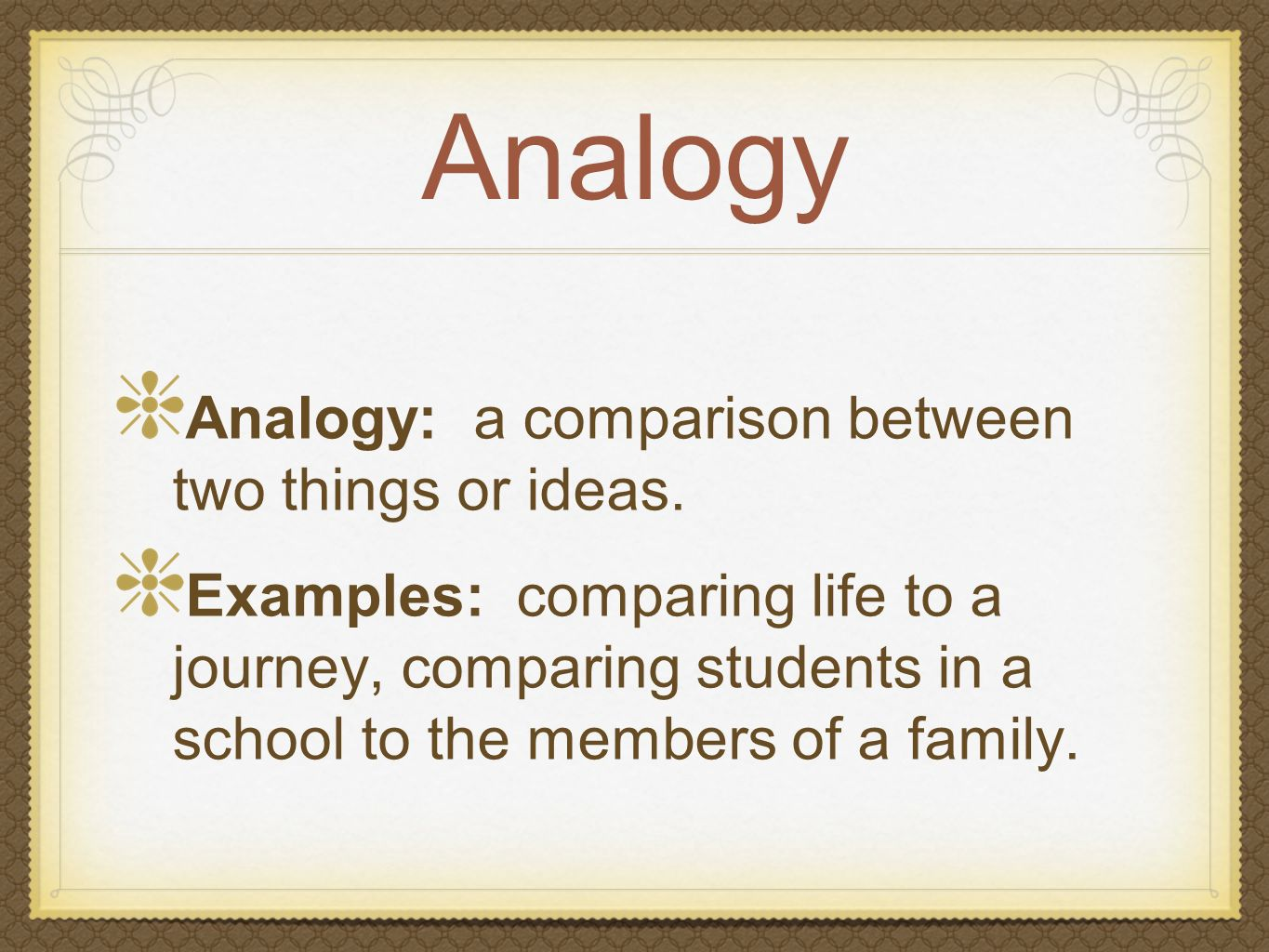 Examples Of Analogies In Literature Gallery Example Cover Letter