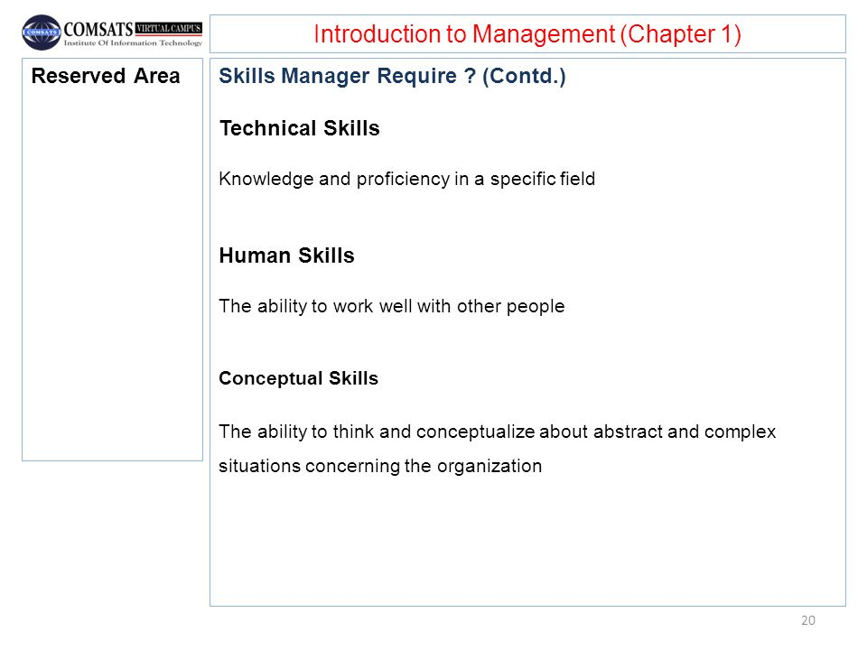 Introduction to Management (Chapter 1)