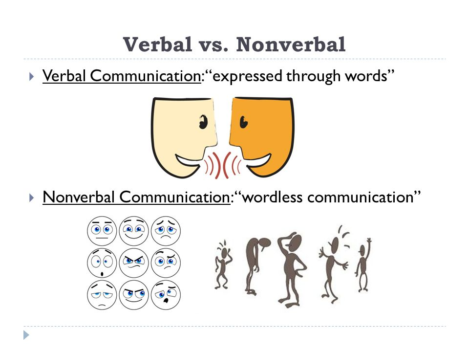 nonverbal vs verbal Verbal and nonverbal communication is one segment of communication where you can see a lot as an everyday thing principles of verbal and nonverbal communication there are many principles of verbal and nonverbal communication.