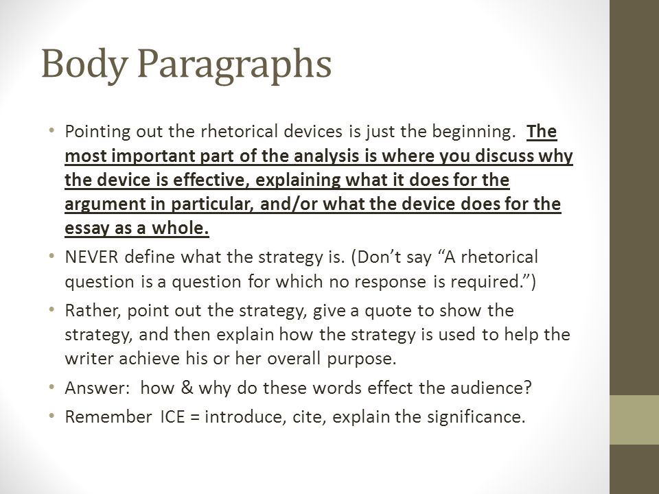 good morning afternoon ppt video online  11 body paragraphs pointing out the rhetorical devices