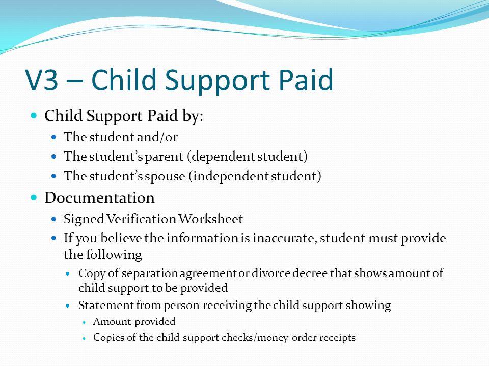 Verification ppt download – Verification Worksheet for Dependent Students