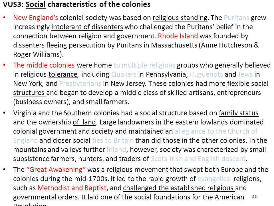how religion shaped the development of chesapeake colonial society Get an answer for 'how did religion shape and influence colonial society' and find religion shaped the american and the development of slavery in colonial.