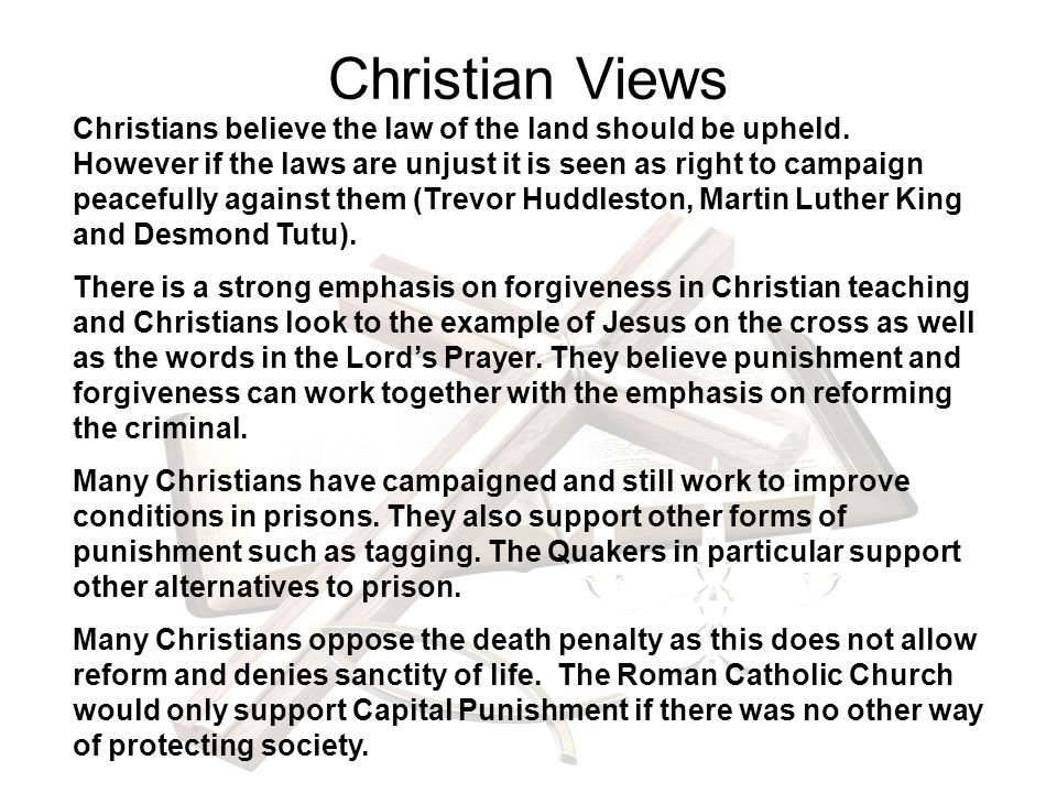 the biblical perspective of the controversial topic of capital punishment Many supporters of capital punishment, as punishment, insist that killing the criminal is somehow proportionate to his offense the crime is so serious that death is warranted as a proportionate.