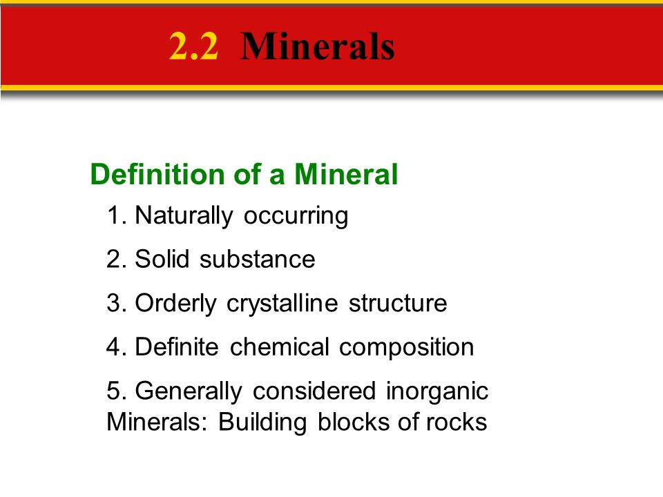 Mineral definition