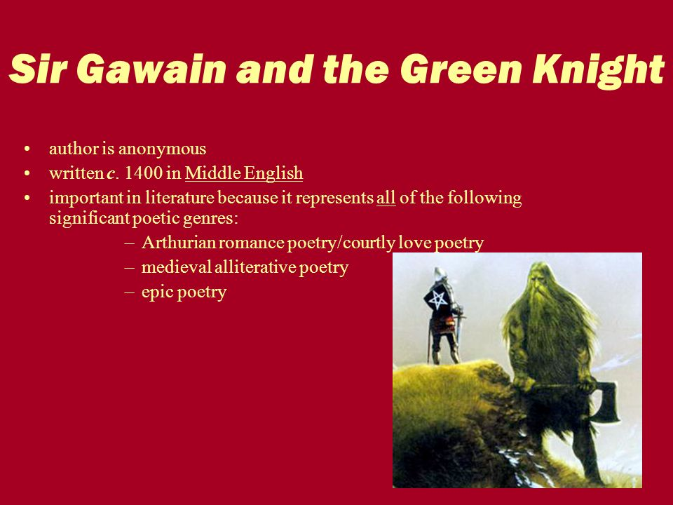 an analysis of the medieval romance of sir gawain and the green knight arthurian stories