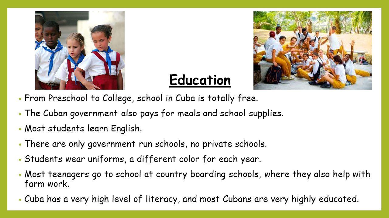 education system in cuba pdf