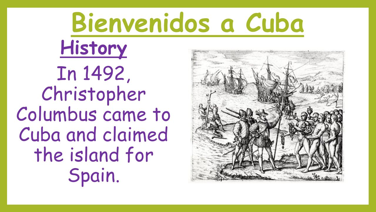 bienvenidos a cuba history ppt download