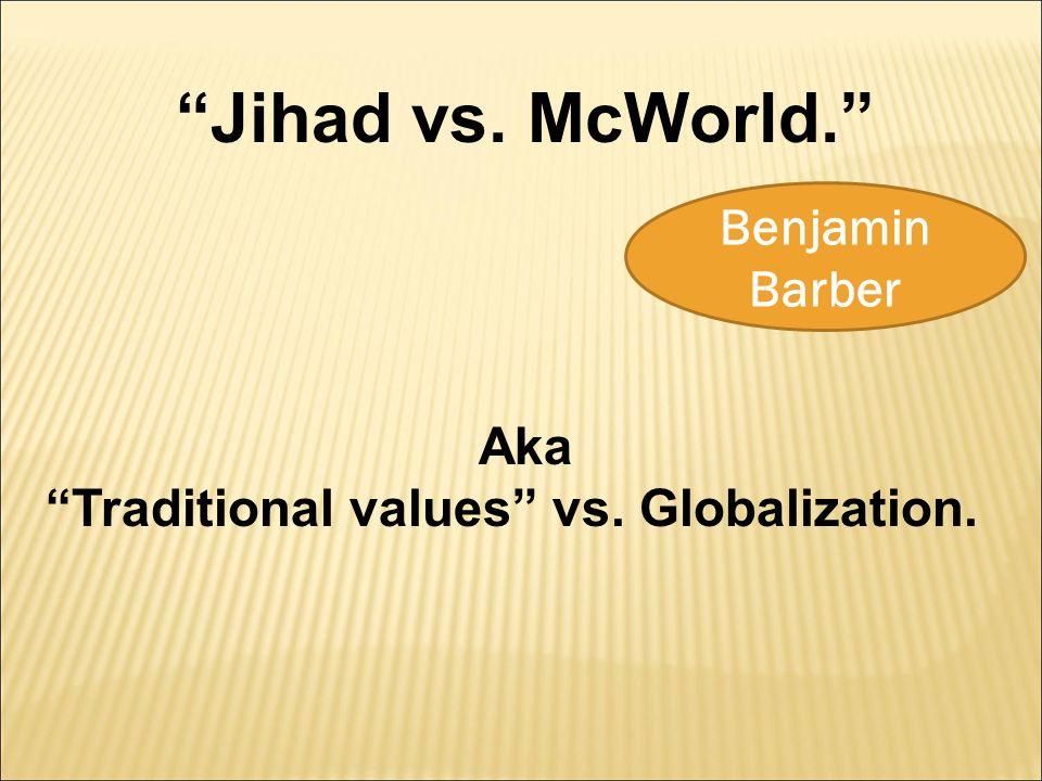 an introduction to the jihad and mc world Understanding islam: an introduction to the muslim world, thomas w lippman jihad vs mcworld, benjamin barber the transformation of war, martin van creled.