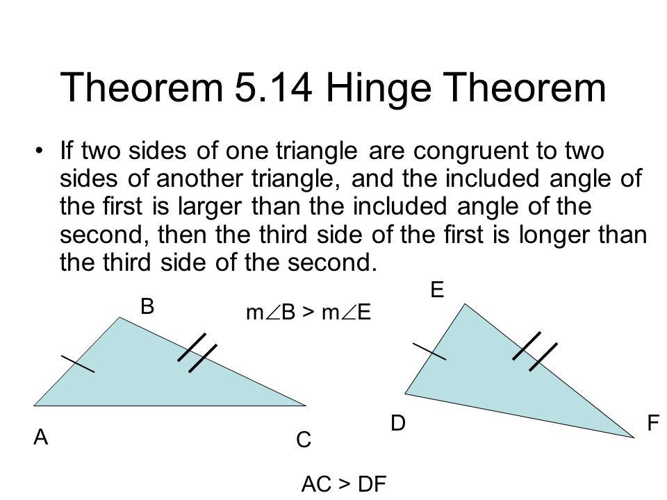 Theorem 5.14 Hinge Theorem