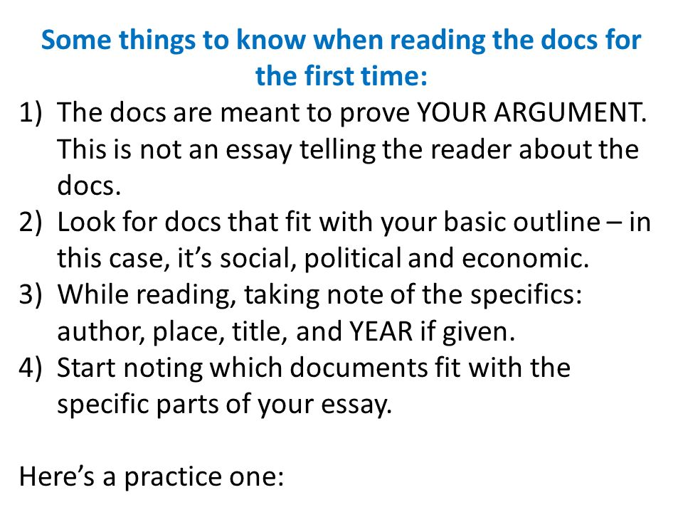 Some things to know when reading the docs for the first time: