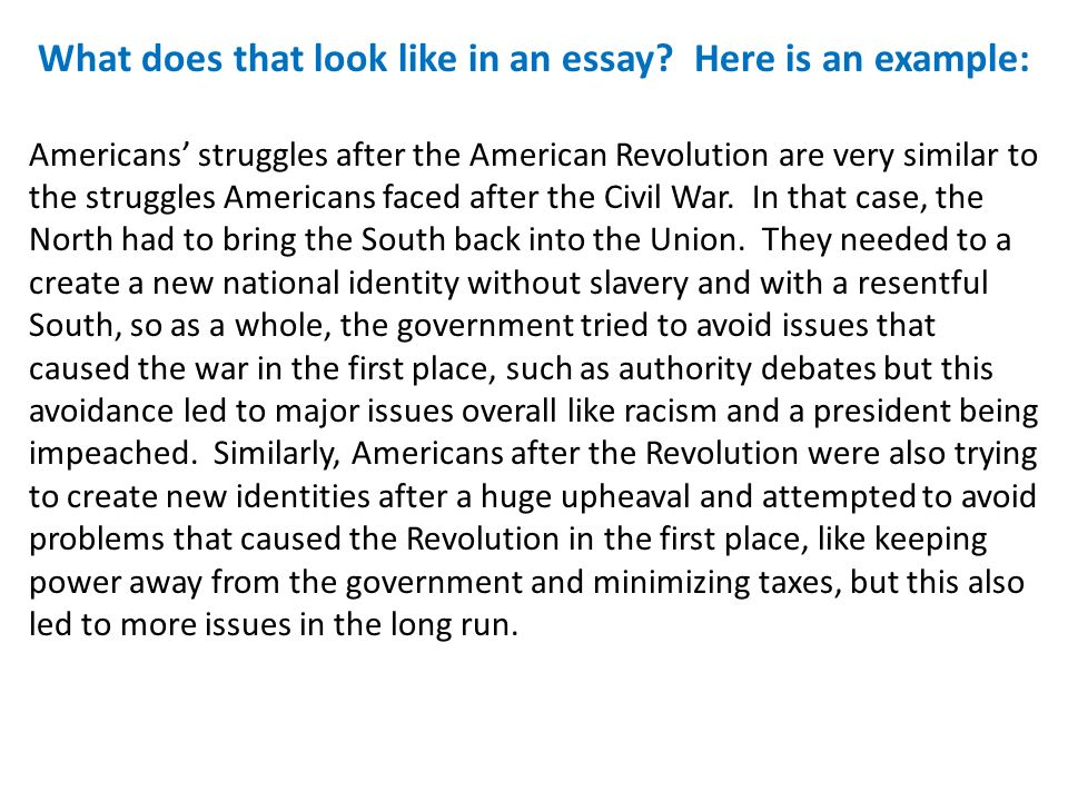 America and the struggle with britian essay