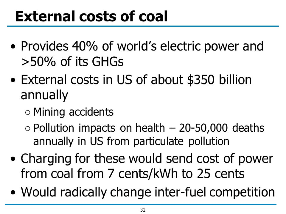 external costs from pollution Consider the standard demand and supply diagram with pollution (click on the  thumbnail to the  the external costs of q1 are equal to area c + d + e + f + g + h.