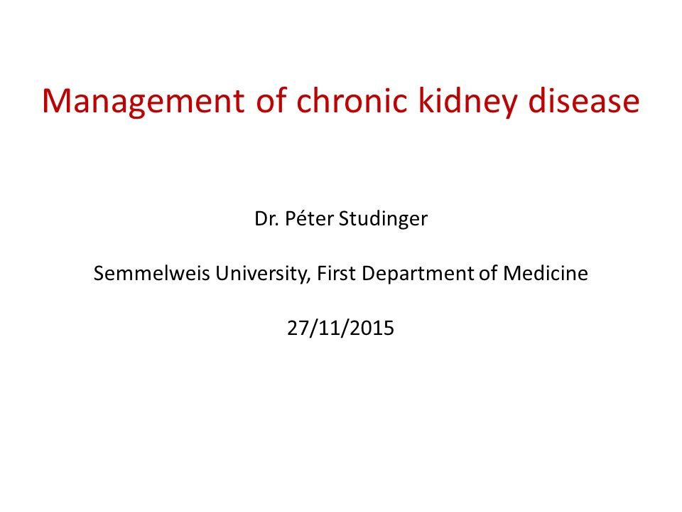chronic kidney disease definition pdf