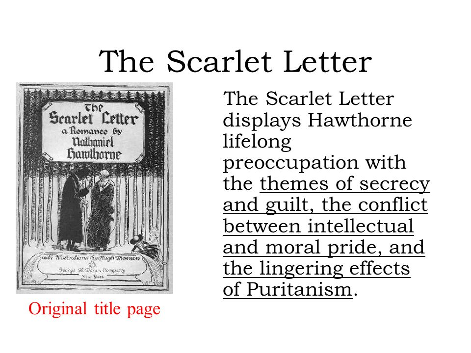 themes of sin and guilt in the scarlet letter