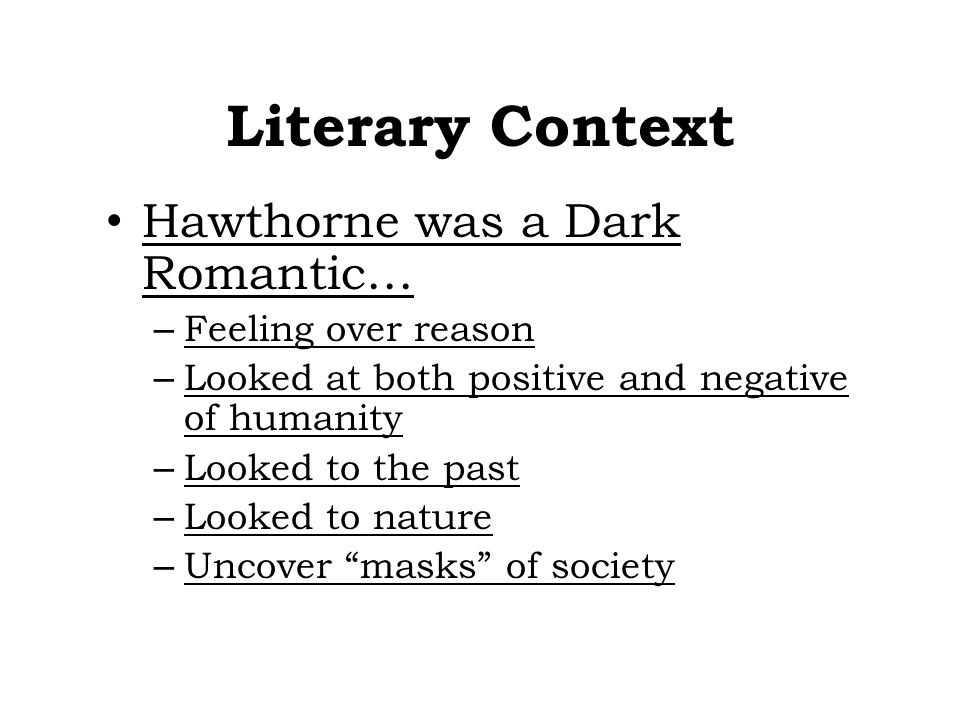 the use of romanticism to developed the characters in hawthornes the scarlet letter Hawthorne uses the symbol of the scarlet letter in his three main characters to criticize the puritan world and to question  the scarlet letter nathaniel hawthorne.