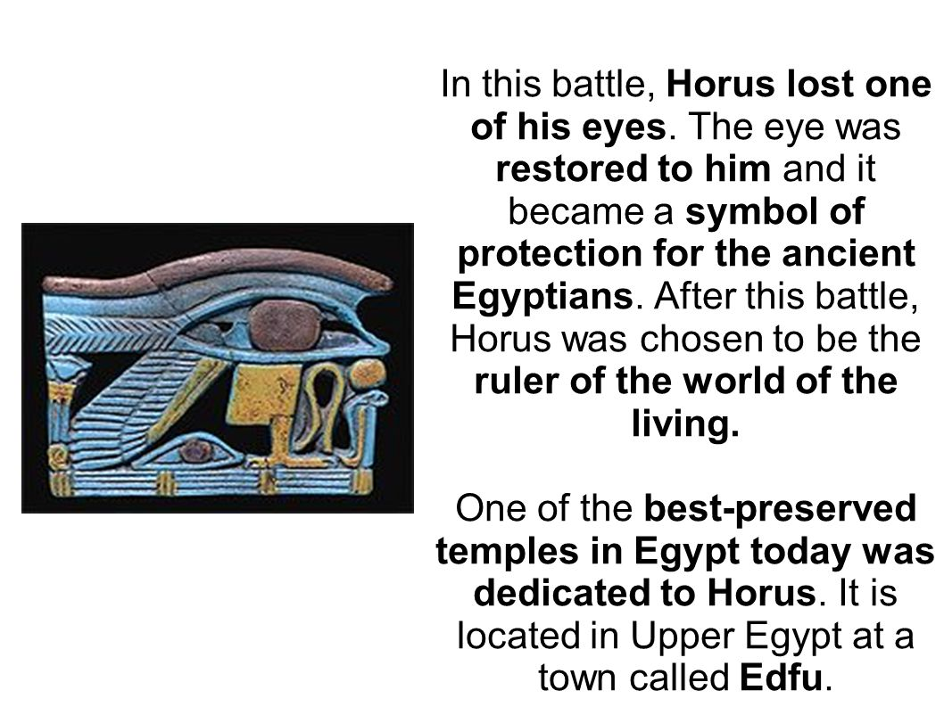 Gods and goddesses the ancient egyptians believed in many in this battle horus lost one of his eyes biocorpaavc Images