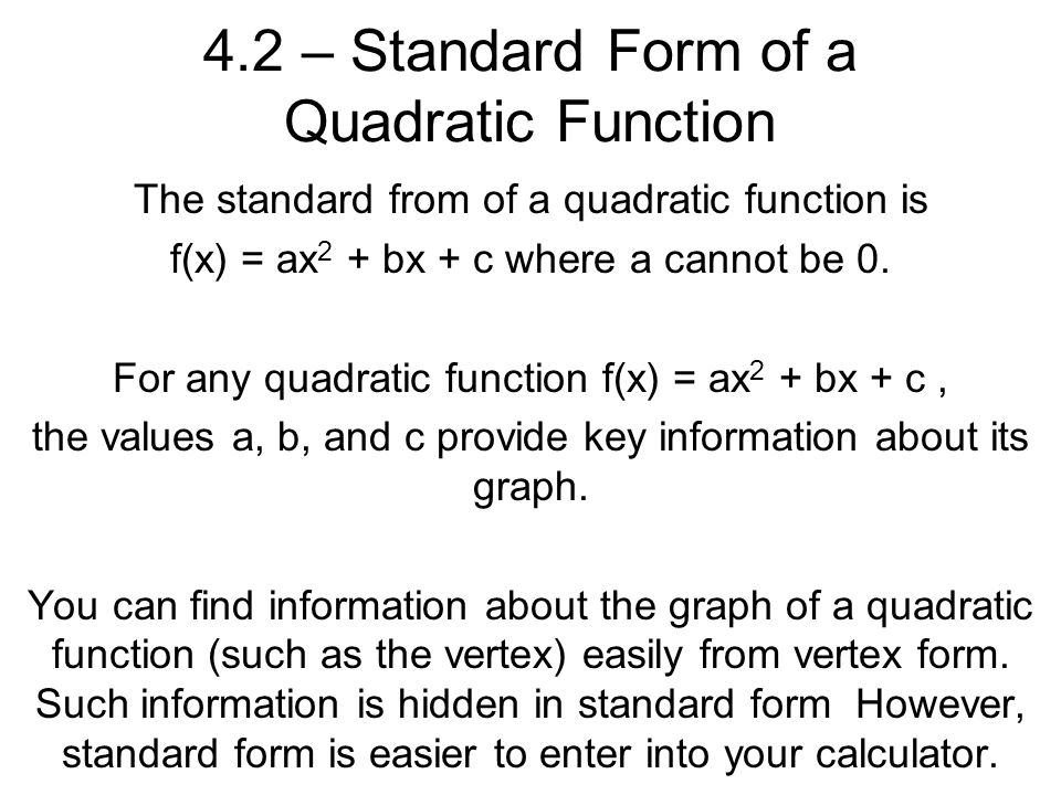 Find Vertex and Intercepts of Quadratic Functions - Calculator