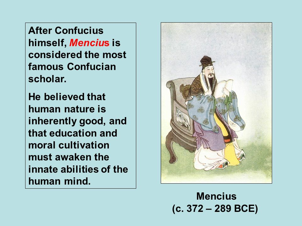 Mencius' Theory of the Innate Goodness of Human Nature