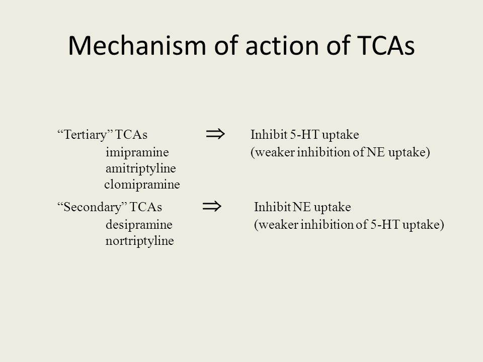 mechanism of action of tricyclic antidepressants pdf