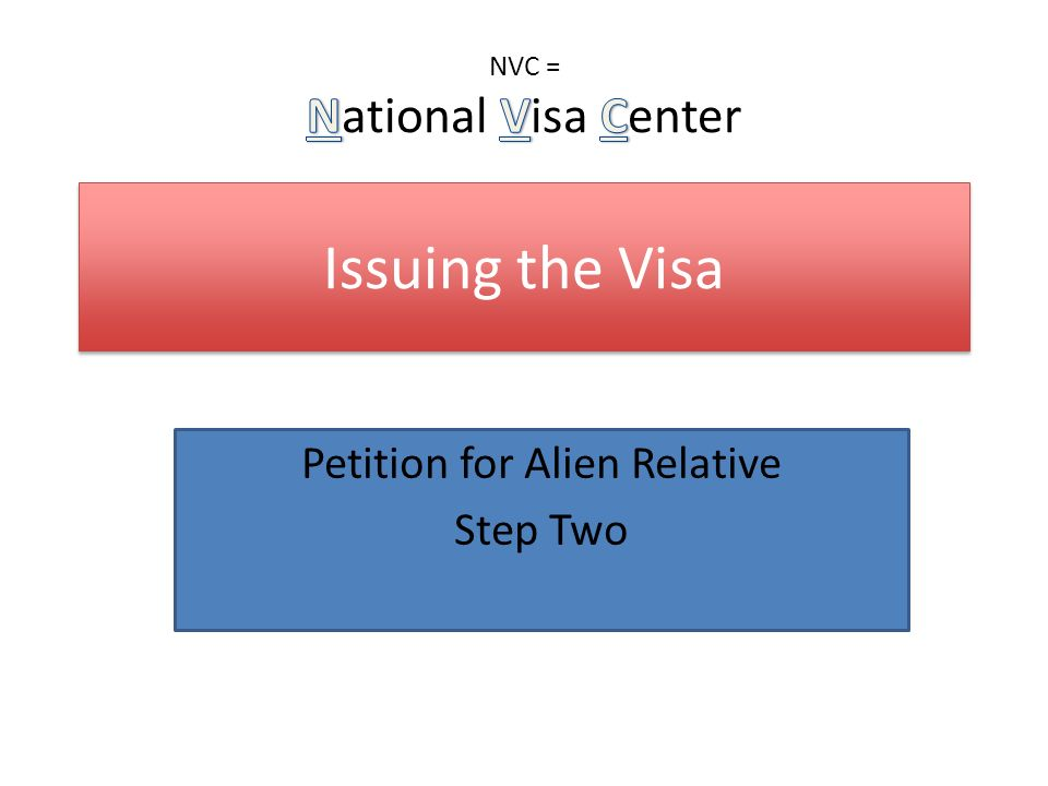 Petition for alien relative step one ppt video online for National passport processing center