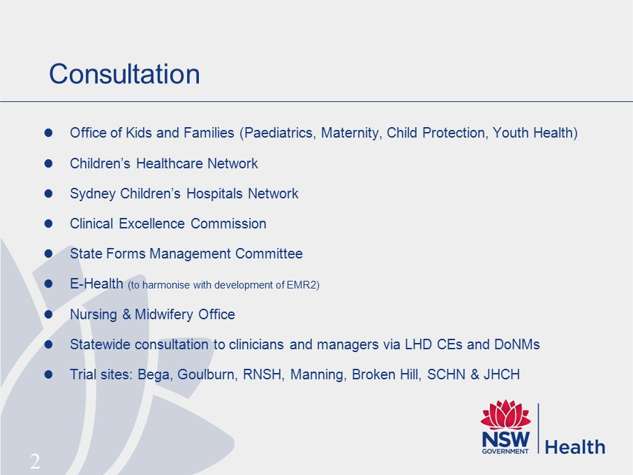 Background ActNsw Paediatric  ChildrenS Healthcare Network