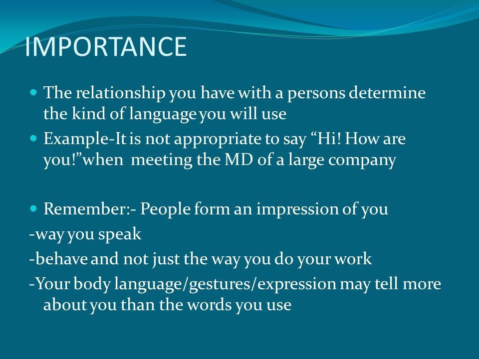 The importance of body language in presentation