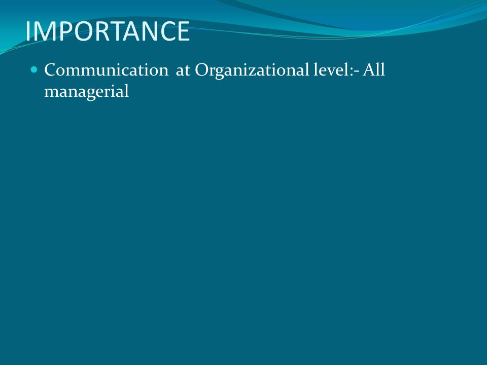 importance of communication in an organization pdf