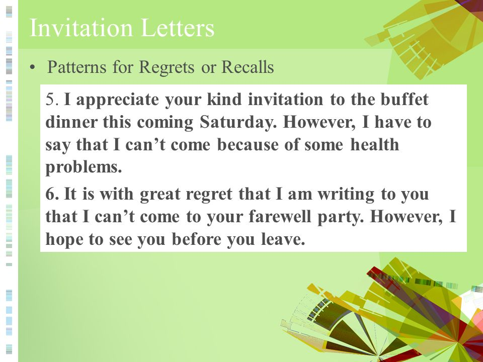 Invitation Letters 邀请函- ppt video online download