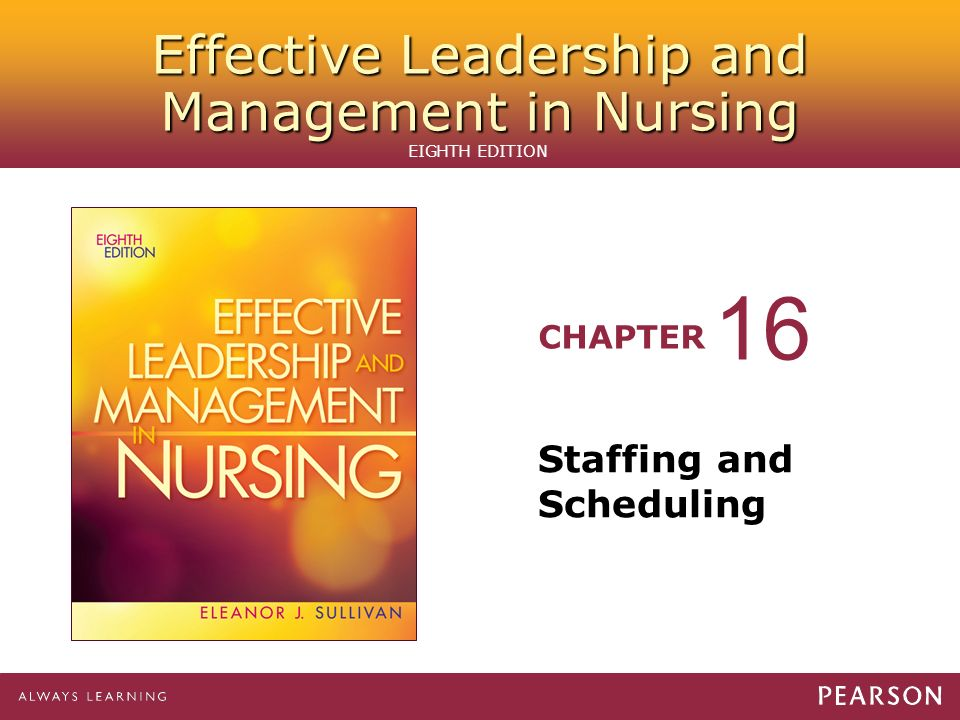 16 Staffing and Scheduling