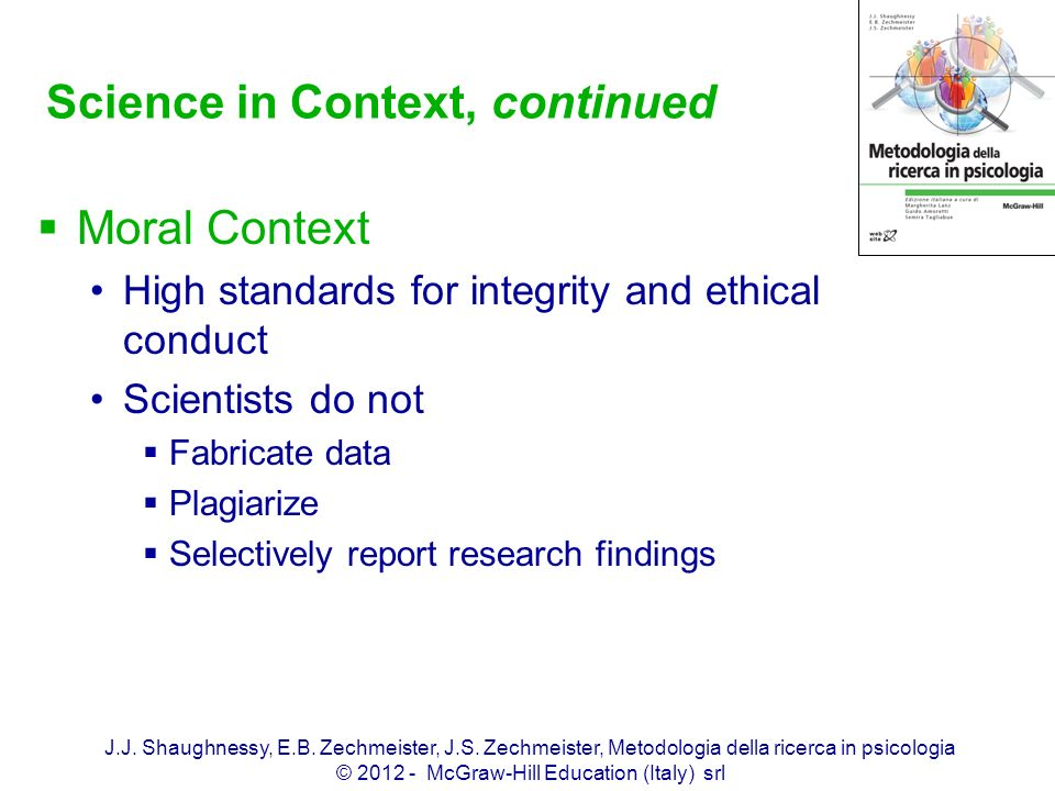 Science in Context, continued