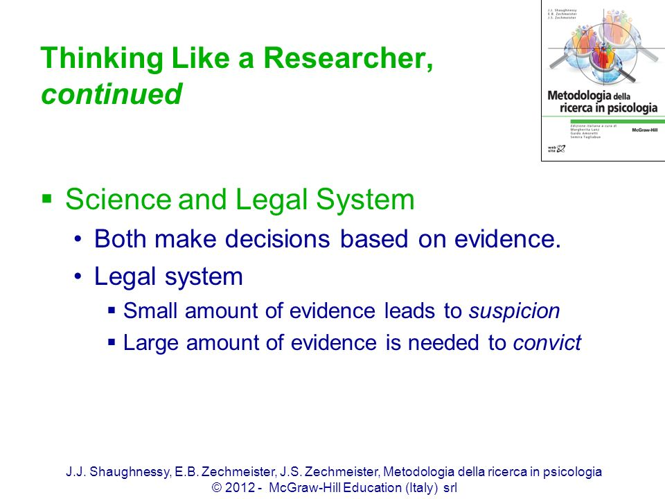 Thinking Like a Researcher, continued