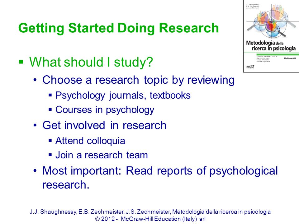 Getting Started Doing Research