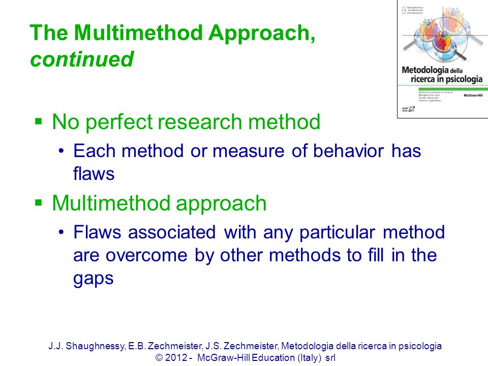 The Multimethod Approach, continued