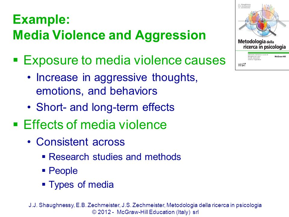 Example: Media Violence and Aggression
