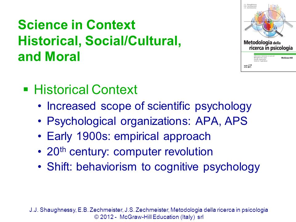 Science in Context Historical, Social/Cultural, and Moral