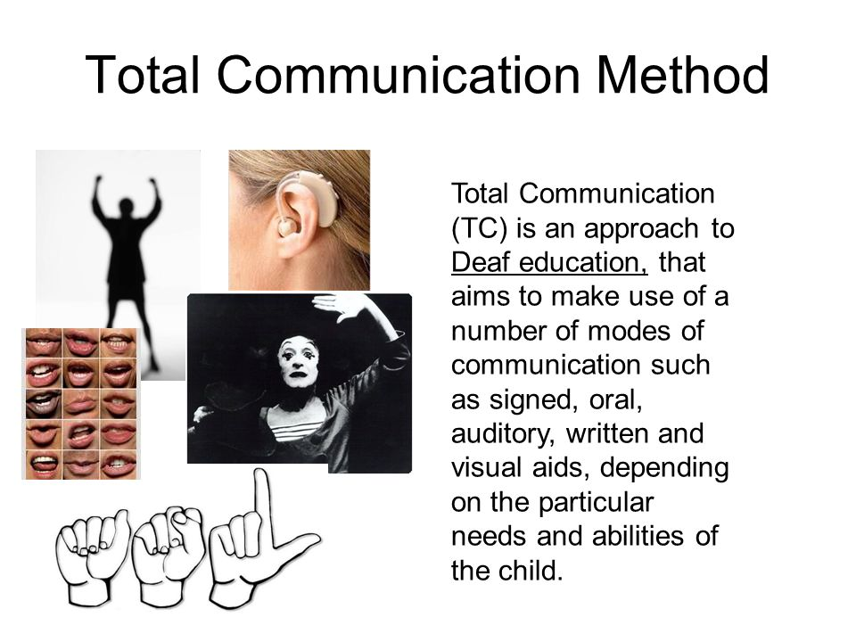 Communication Methods - Welcome to the Deaf World!
