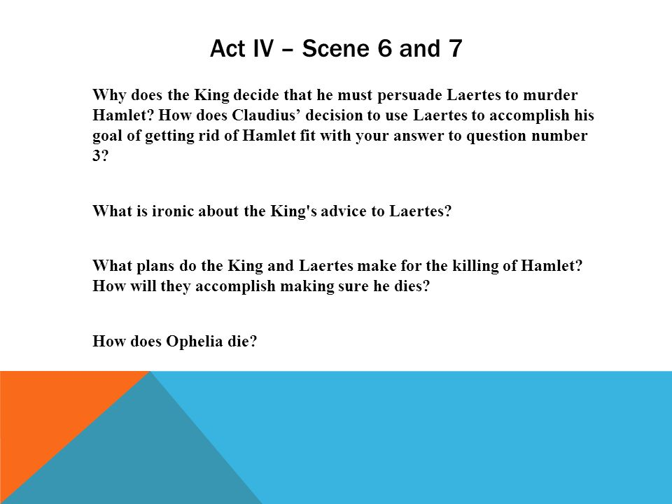 Hamlet and His Foils: Fortinbras and Laertes