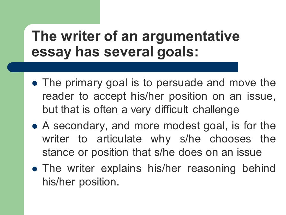 objective vs subjective ppt video online the writer of an argumentative essay has several goals
