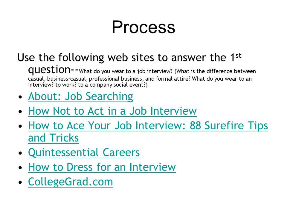 the interview  u2013 a webquest