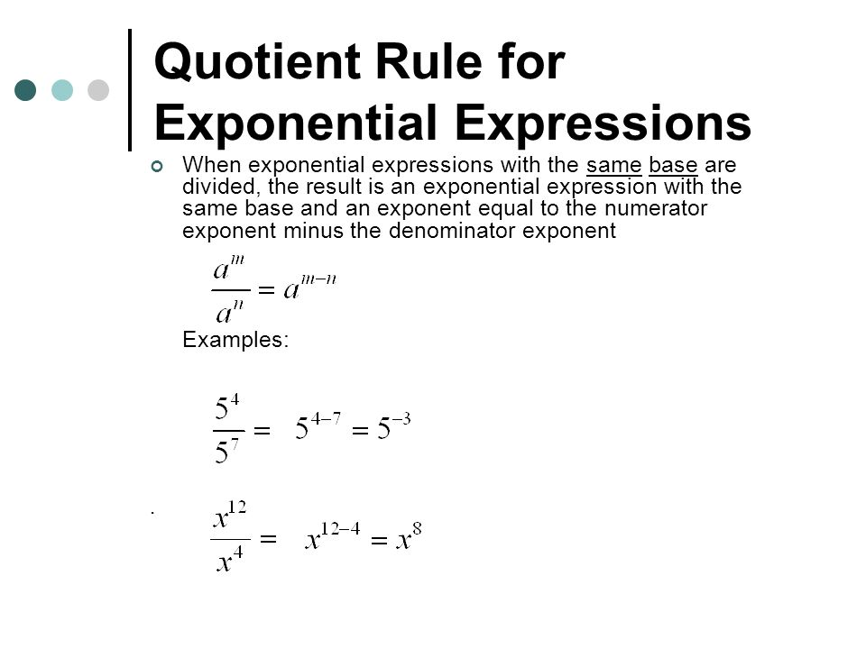 how to write an equivalent expression using exponential notation