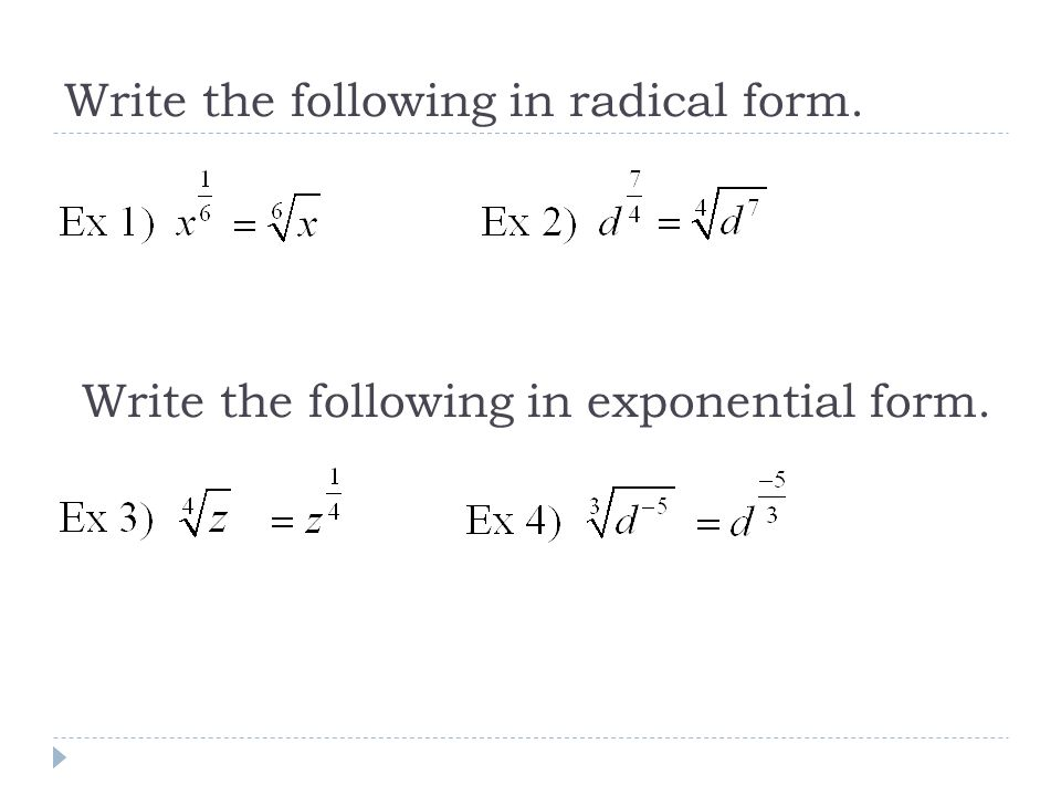 Radicals Rational Exponents - ppt video online download
